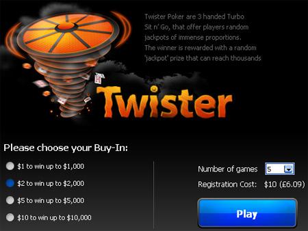 Twister Sit&Go на Poker 770